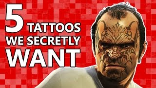 5 Videogame Tattoos We All Secretly Want! / Видео