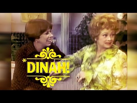 Lucille Ball on DINAH SHOW w. Carol Burnett - 1976