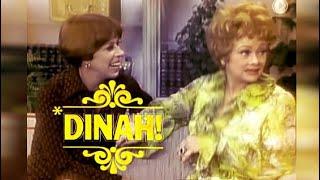 Lucille Ball on DINAH SHOW w. Carol Burnett - 1976