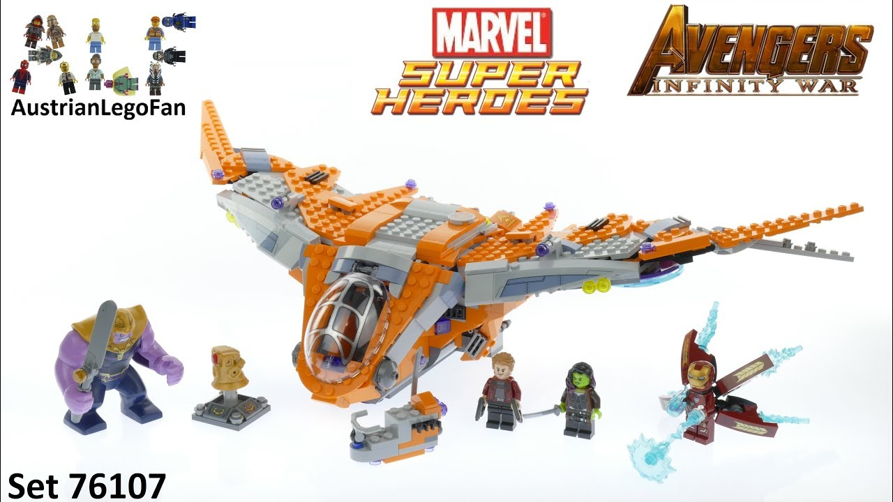 Lego Avengers Infinity War Ausmalbilder: Lego Super Heroes 76107 Thanos : Ultimate Battle