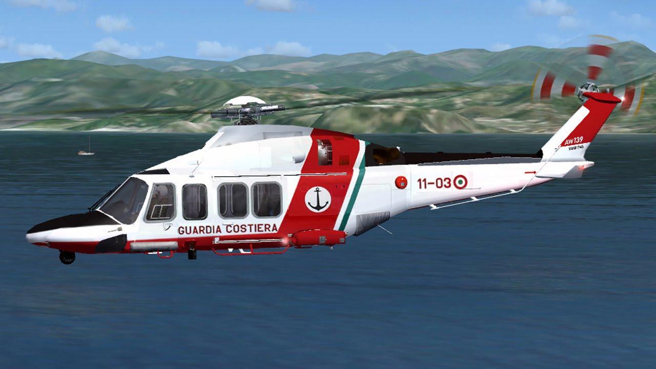 Elicottero 139 : Fsx: aw 139 guardia costiera dalla base elicotteri di sarzana luni