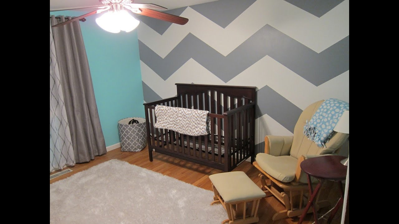 Baby Room Remodel Chevron Zig Zag Wall Youtube