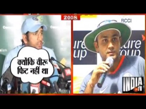 MS Dhoni and Virender Sehwag Fighting for Captaincy | Chak De Cricket