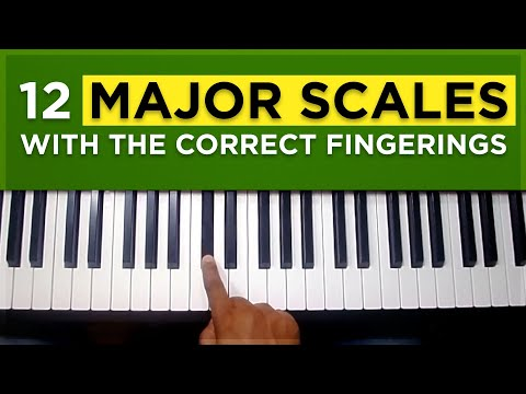 How to play all 12 major scales with the correct fingerings: Piano tutorial #4