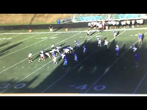 Reed Gautreaux Defensive End Tight End #15 Bauxite Middle School 7th Grade Football