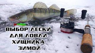какую леску ставить для ловли хищника зимой / Азбука зимней рыбалки