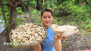 Yummy Chicken Sour Soup With Mushroom   Wild Mushroom For Chicken Sour Soup   Cooking With Sros
