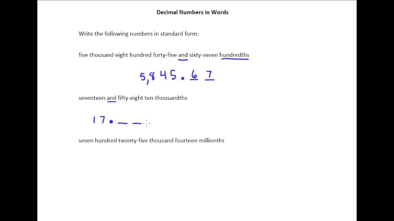 41c translating words to decimal numbers youtube 41c translating words to decimal numbers falaconquin