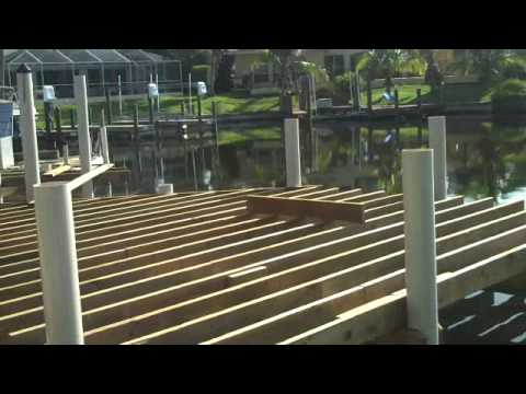 Easmunt Dock under construction with TuffDock PVC pilings