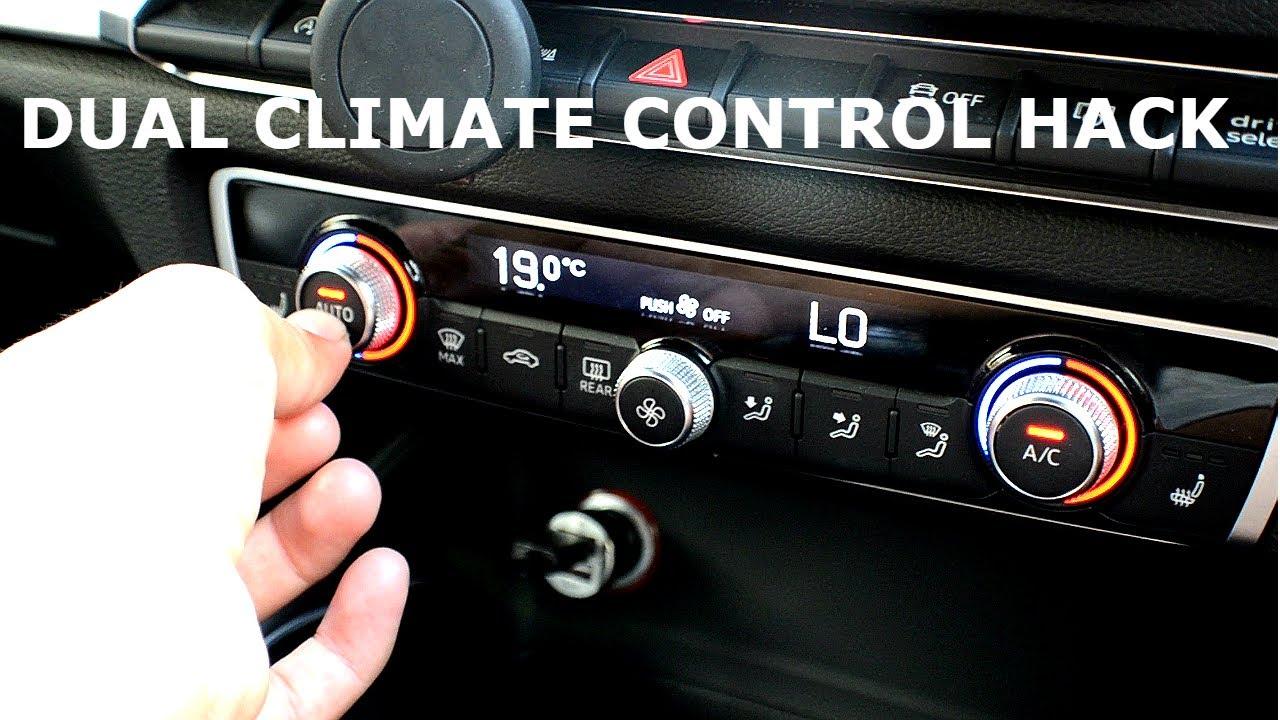 Dual Climate Control Hack (AUDI A3/S3 8P/8V)