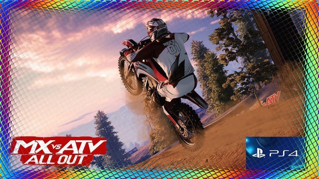 je teste le nouveau jeu de moto cross sur ps4 mx vs atv all out youtube