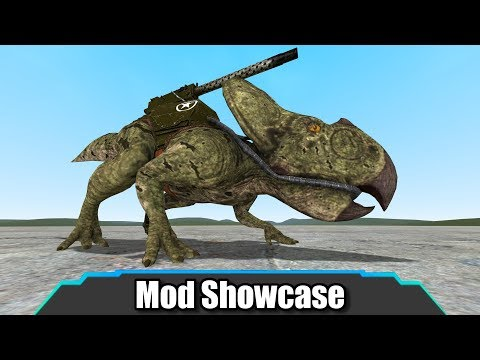 Garry's Mod | These Dinosaurs Have GUNS On Their Backs! (Dino D-Day SNPCs) | Mod Showcase