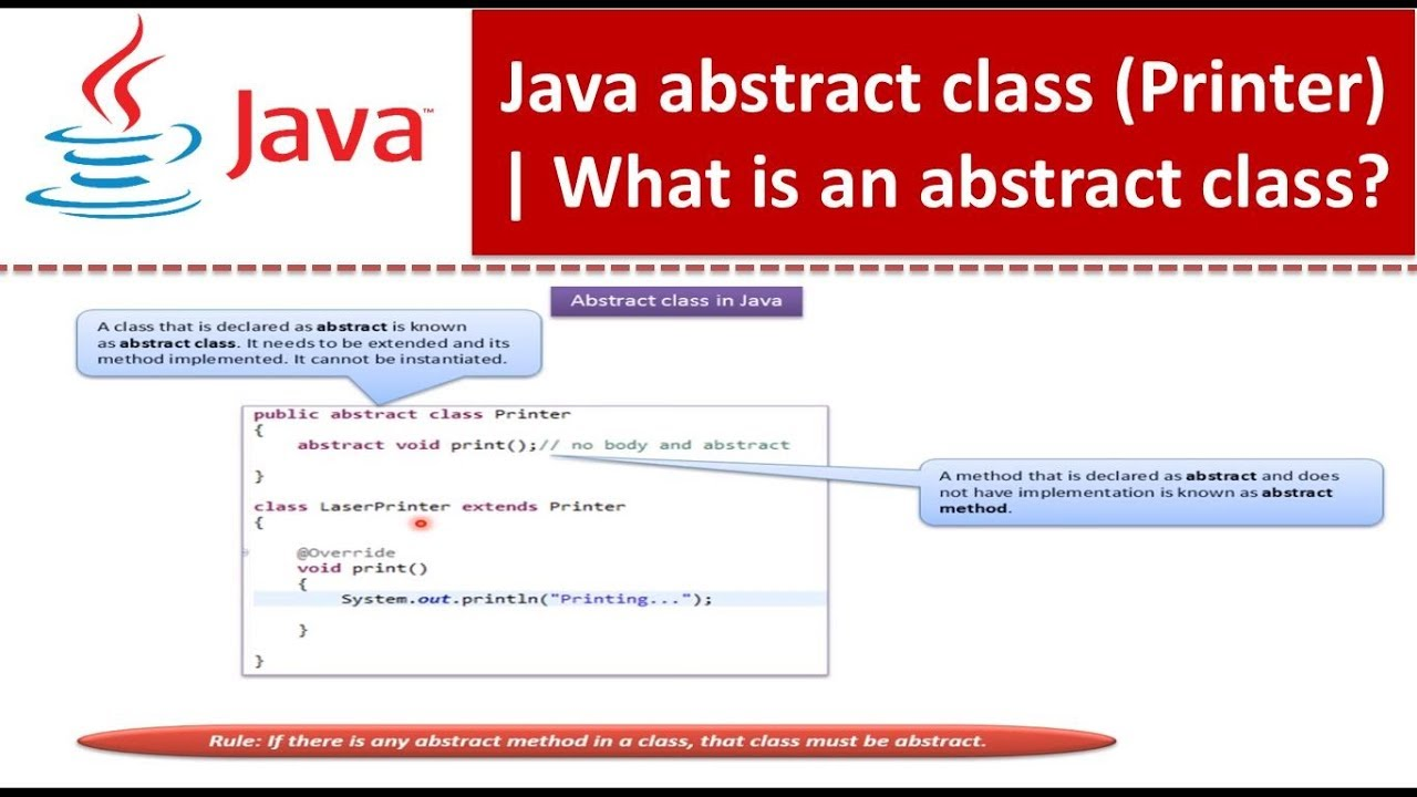 Java Tutorial : Java abstract class(Printer)