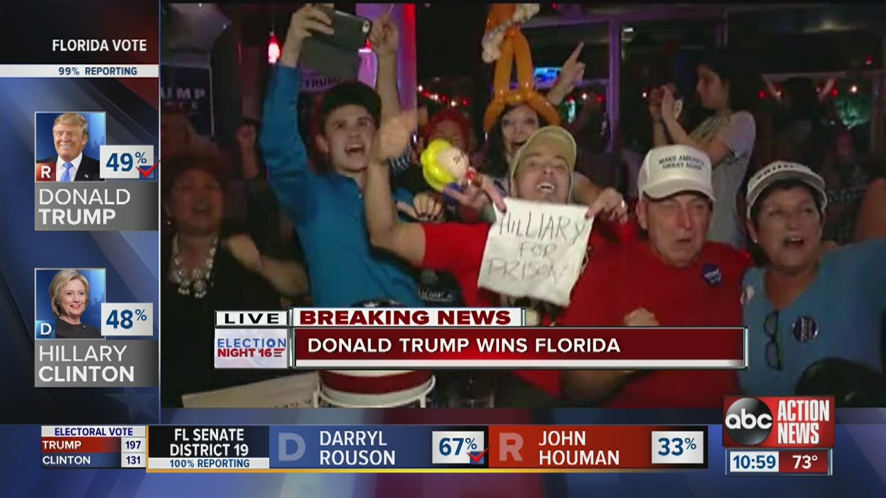 Election 2016:  Donald Trump wins Florida