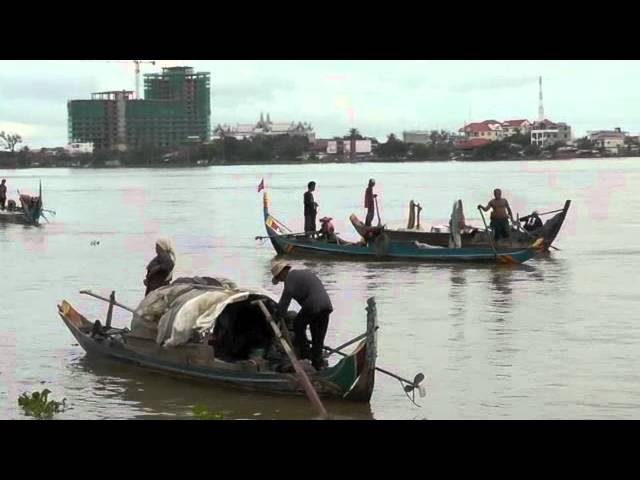 Five Minutes on the Tonle Sap River, Phnom Penh, Cambodia