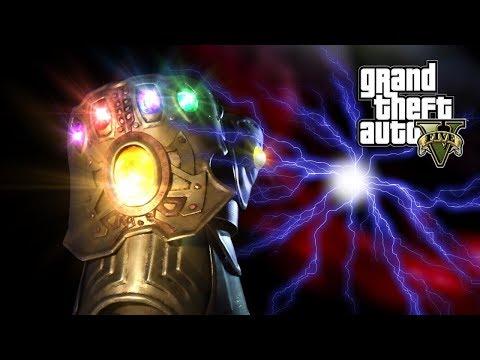 GTA 5 - THOR VS THANOS, AVENGERS INFINITY WAR (GTA 5 PC MODS NVR )