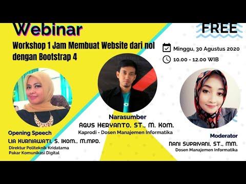 LIVE STREAMING -  Workshop  Membuat Website Dengan Bootstrap 4