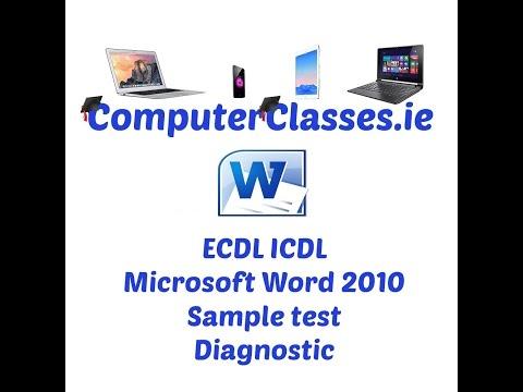 Microsoft Word 2010 Diagnostic Sample Test