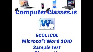 Microsoft Word 2010 Diagnostic Sample Test