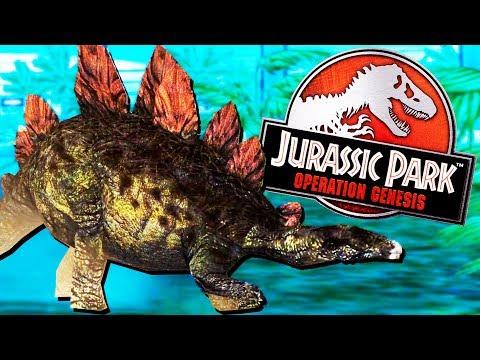 Stegosaurus Surprise! - Jurassic Park Operation Genesis Gameplay