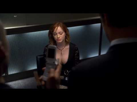 Christina Hendricks' amazing cleavage