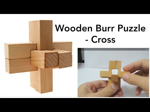 Burr Puzzle 3d Wooden Cross Solution Youtube