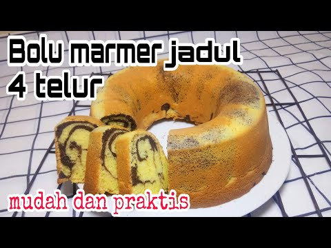 Resep Bolu Marmer 4 Telur Super Lembut Bahan-Bahan: 200 gr tepung terigu 175 gr gula pasir 200 gr mentega dicairkan 4 butir ....