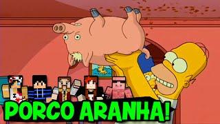 Minecraft: NOVO MINIGAME (Build Battle) - PORCO ARANHA!! (c/ Nenhos, Miss e Pig)