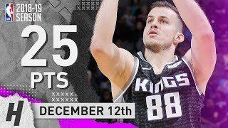 Nemanja Bjelica Full Highlights Kings vs Timberwolves 2018.12.12 - 25 Points, 5 Reb