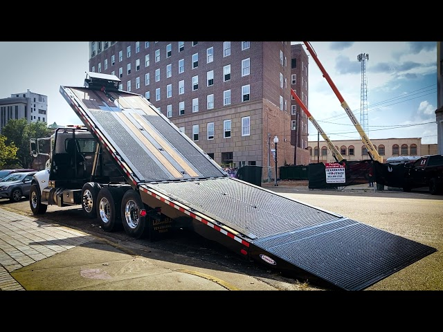 Tilt Deck Truck on Peterbilt - Ledwell HydraTilt Truck
