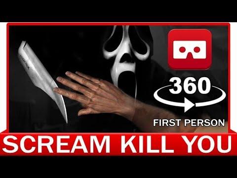 360° VR VIDEO - Ghostface KNIFE YOU! - SCREAM FILM | Scary Movie | Horror | VIRTUAL REALITY