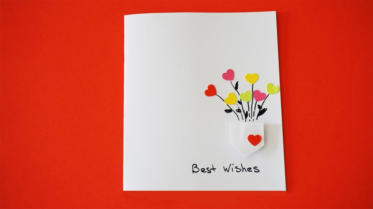 Best wishes card diy greeting card youtube m4hsunfo