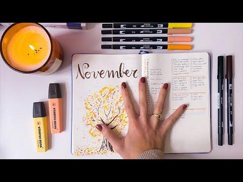 Bullet Journal e organizzazione | Plan with me November, studio lavoro sport
