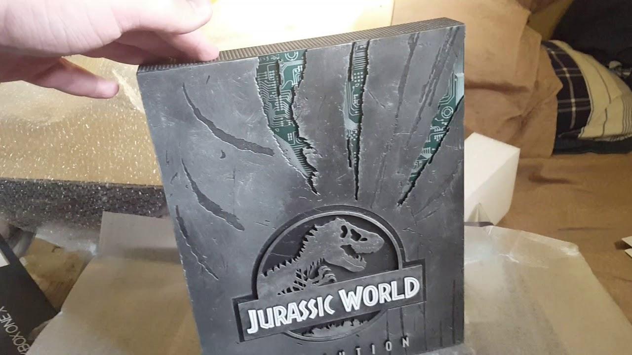 xbox one x jurassic world evolution edition unboxing  youtube