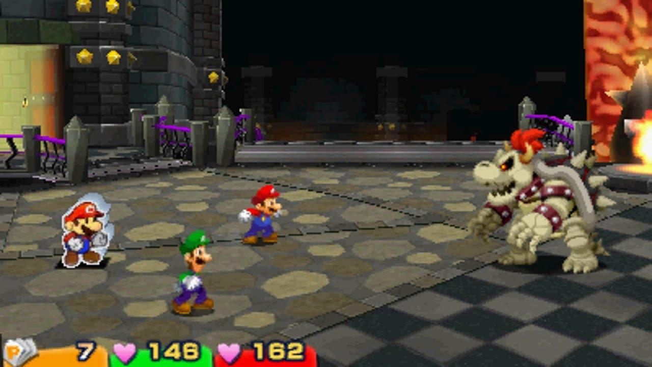 Mario Luigi Paper Jam Dry Bowser Battle Secret Boss Youtube