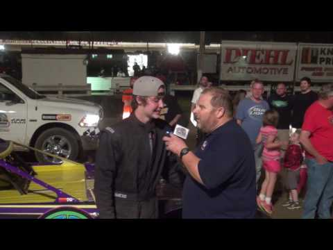Christian Schneider wins on his first night in Super Late Model racing