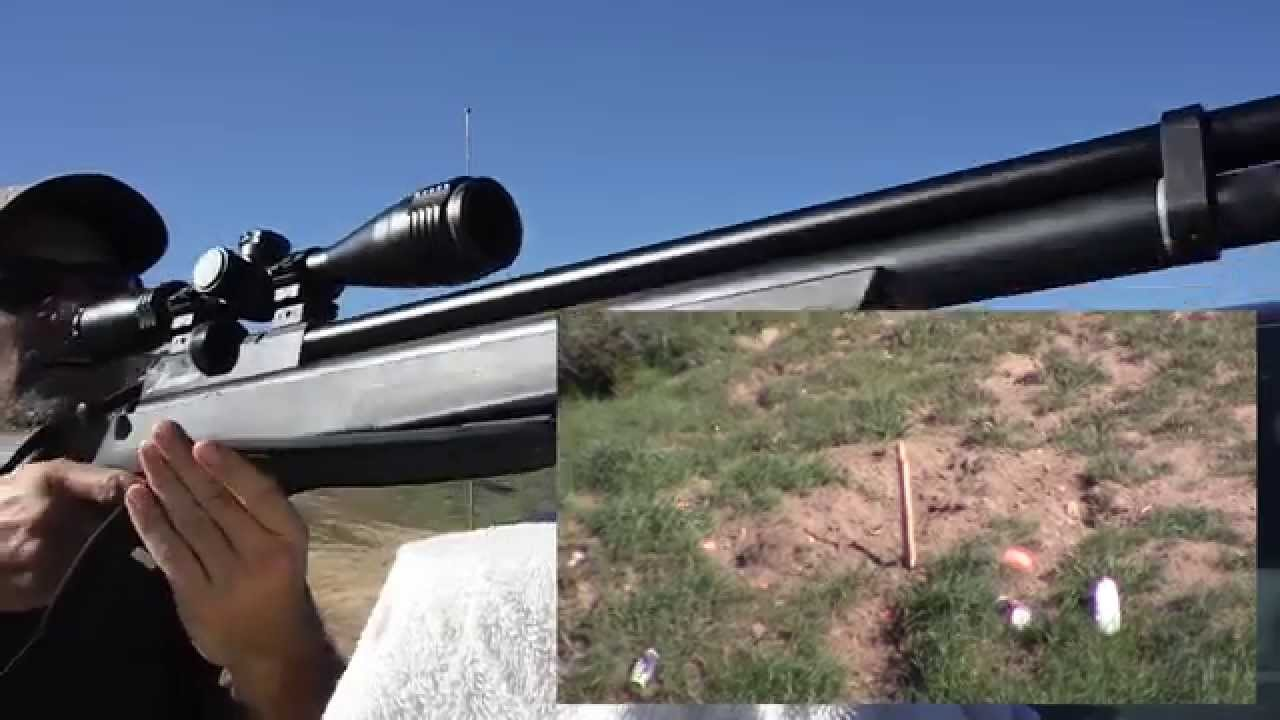 75 Yard Target Shooting with a  25 cal Benjamin Marauder by AirgunsWorld