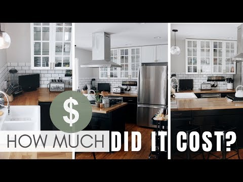 FULL Cost Breakdown | DIY IKEA Modern Farmhouse Kitchen Renovation