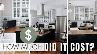 FULL Cost Breakdown | DIY IKEA Modern Farmhouse Kitchen Renovation