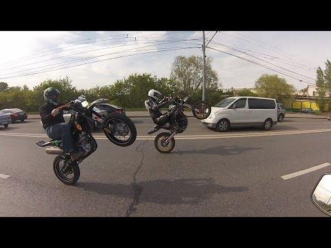 SuperMoto Boys Ride in Moscow!