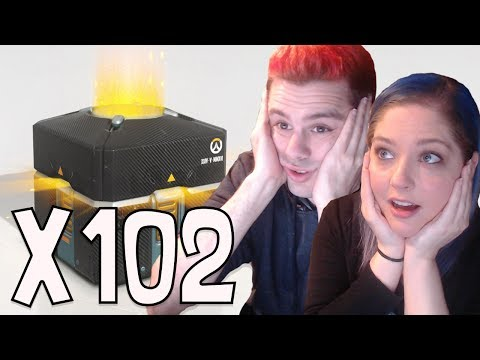 102 Overwatch Anniversary Lootbox Opening! [Ft. My Girlfriend]