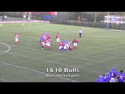 BFL Senior Season 2014 Week 4 Puurs Titans vs Brussels Bulls
