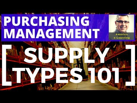 Supply types 101- purchasing process