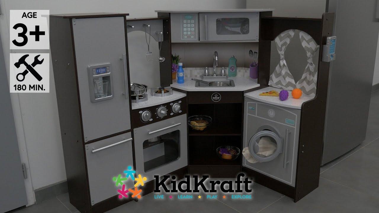 Kidkraft Cuisine Enfant Ultimate Corner Avec Son Et Lumieres Demo