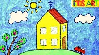 Peppa Pig | How to draw Peppa Pig's House | Kids Art