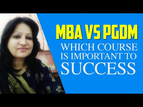 MBA PGDM expert video revealed: pgdm vs mba; Taxila Business School