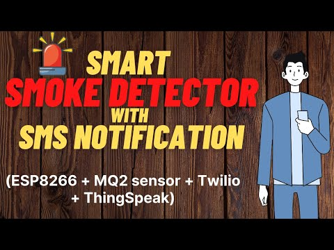 Internet enabled (IOT) smoke alarm with SMS notification