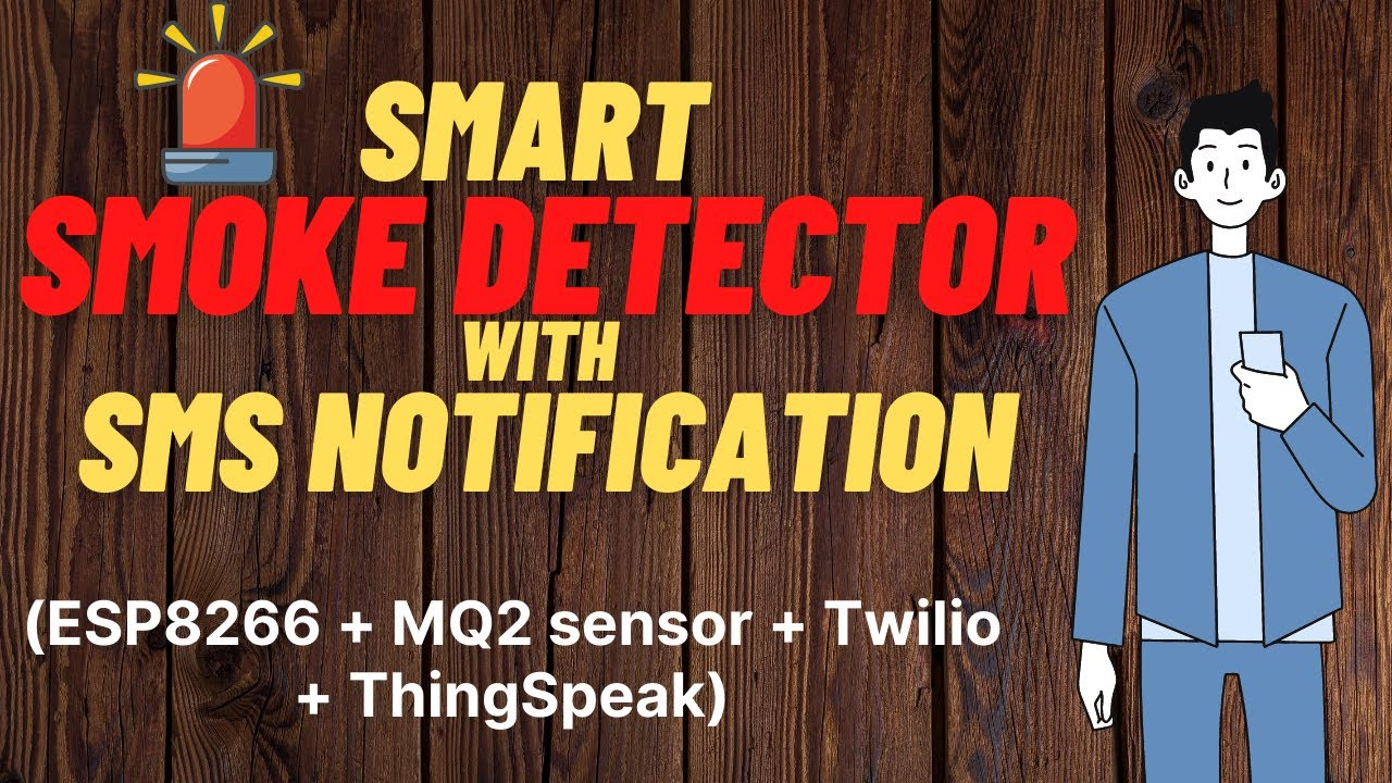 Demo:IOT- ESP8266 - ThingSpeak - MQ2 Gas sensor - Twilio SMS notification -  Smart Home - Safe Home