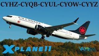 X-Plane 11   Welcome to Canada!!   CYHZ-CYQB-CYUL-CYOW-CYYZ   A320 Crj-200 B737 A330   VATSIM