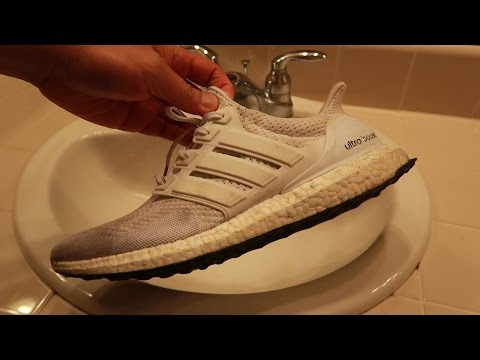 ASMR Sneaker cleaning MY FILTHY All White Ultra Boost
